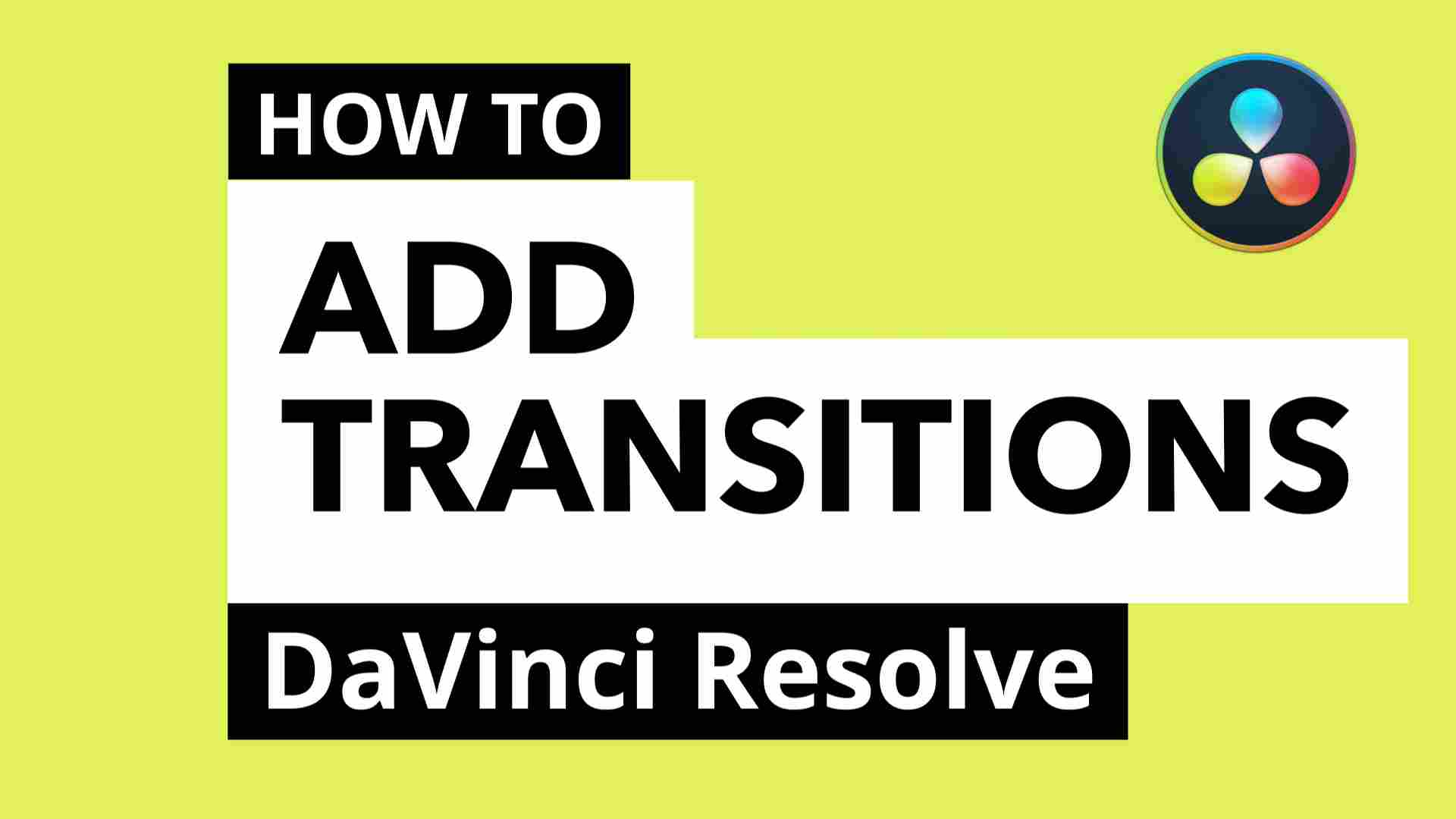 how to add transitions inside davinci resolve